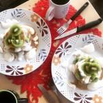 Jaglane pancakes z kiwi