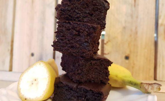mocno czekoladowe brownie z bananami