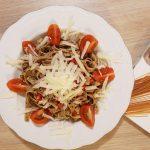 Spaghetti aglio olio na ostro