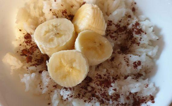 ryżowianka z kakao i bananem