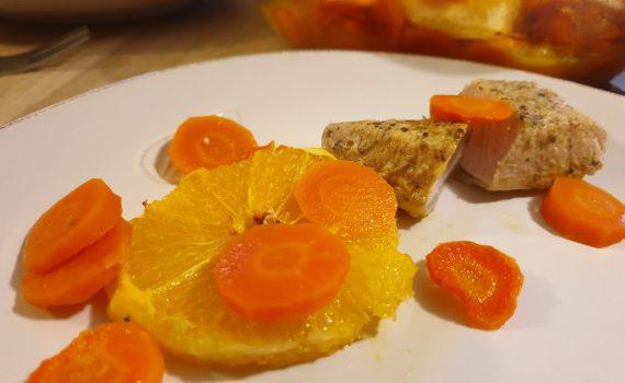 Schab pieczony w pomarańczach