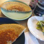 Złocisty omlet bananowo - owsiany