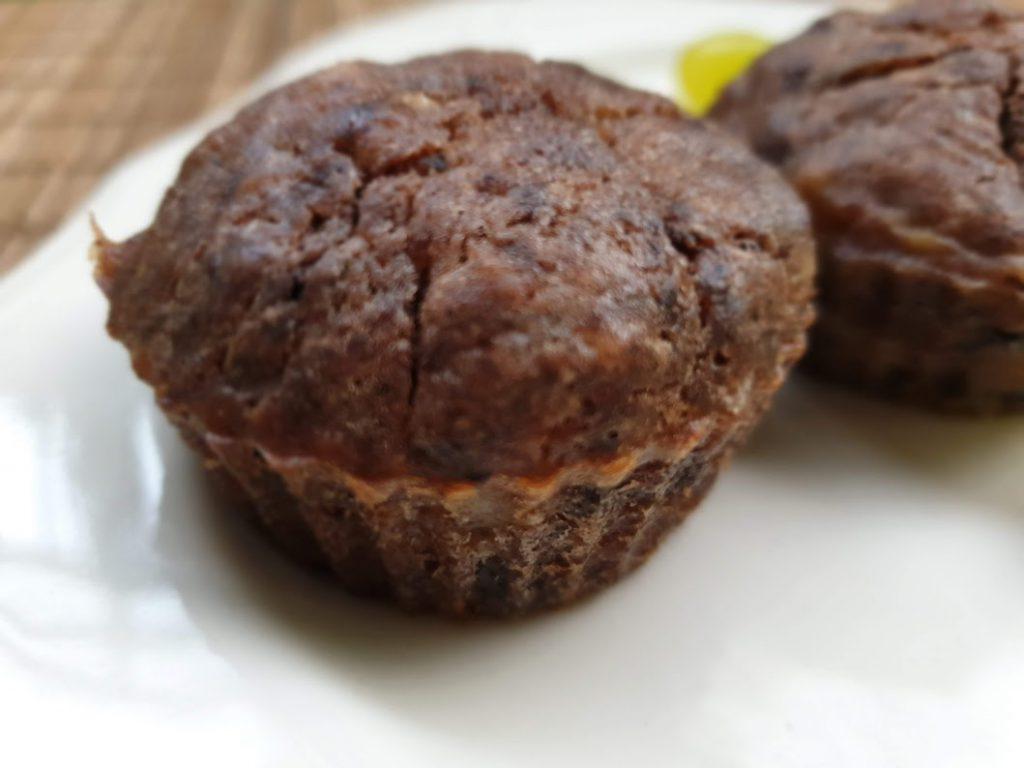 bezcukrowe muffiny bananowo-kakaowe