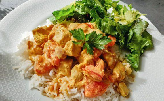 kurczak curry z pomidorami