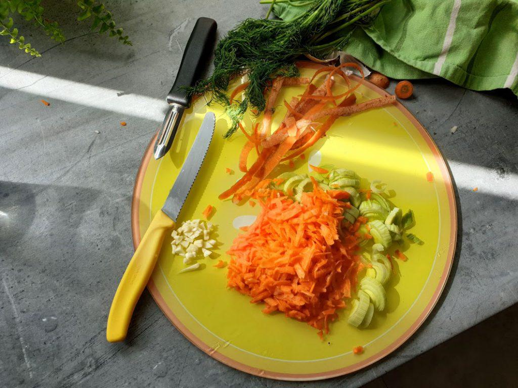makaron z łososiem w kremowym sosie