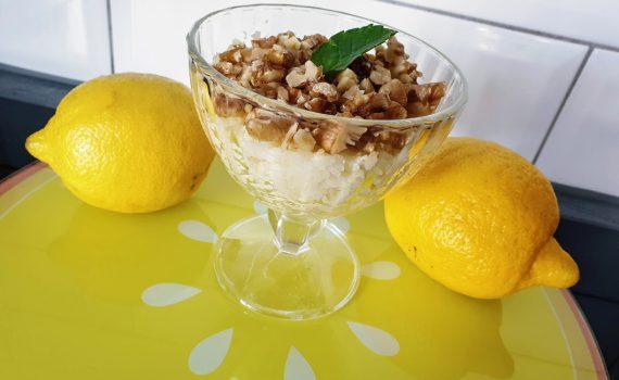 ryżowy pudding cytrynowy