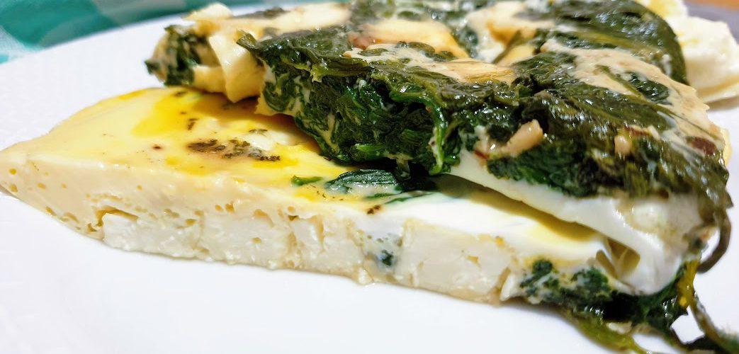 omlet szpinakowy z fetą