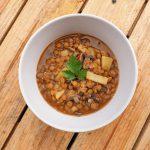 Zupa z soczewicy i pieczarek