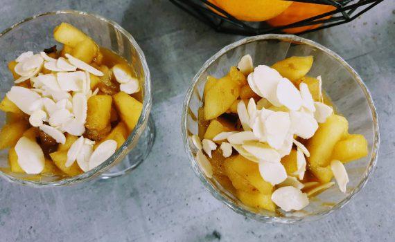 duszone jabłka w pomarańczach