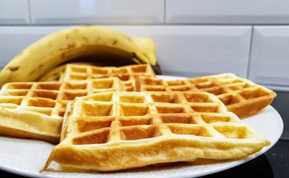 bananowe gofry na kefirze