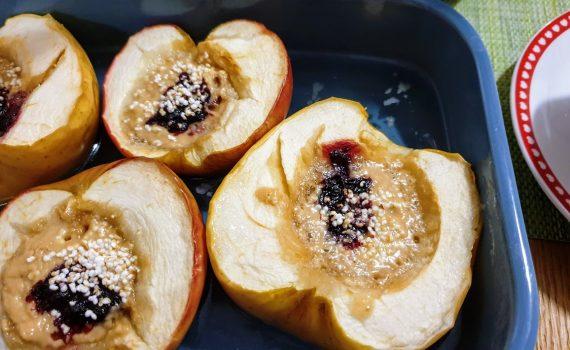 Pieczone jabłuszka z pysznym nadzieniem