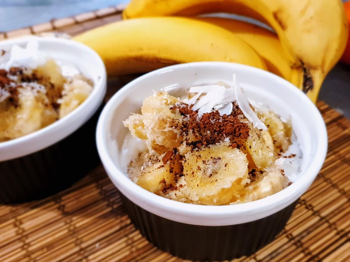 Deser bananowo-kokosowy z kakao