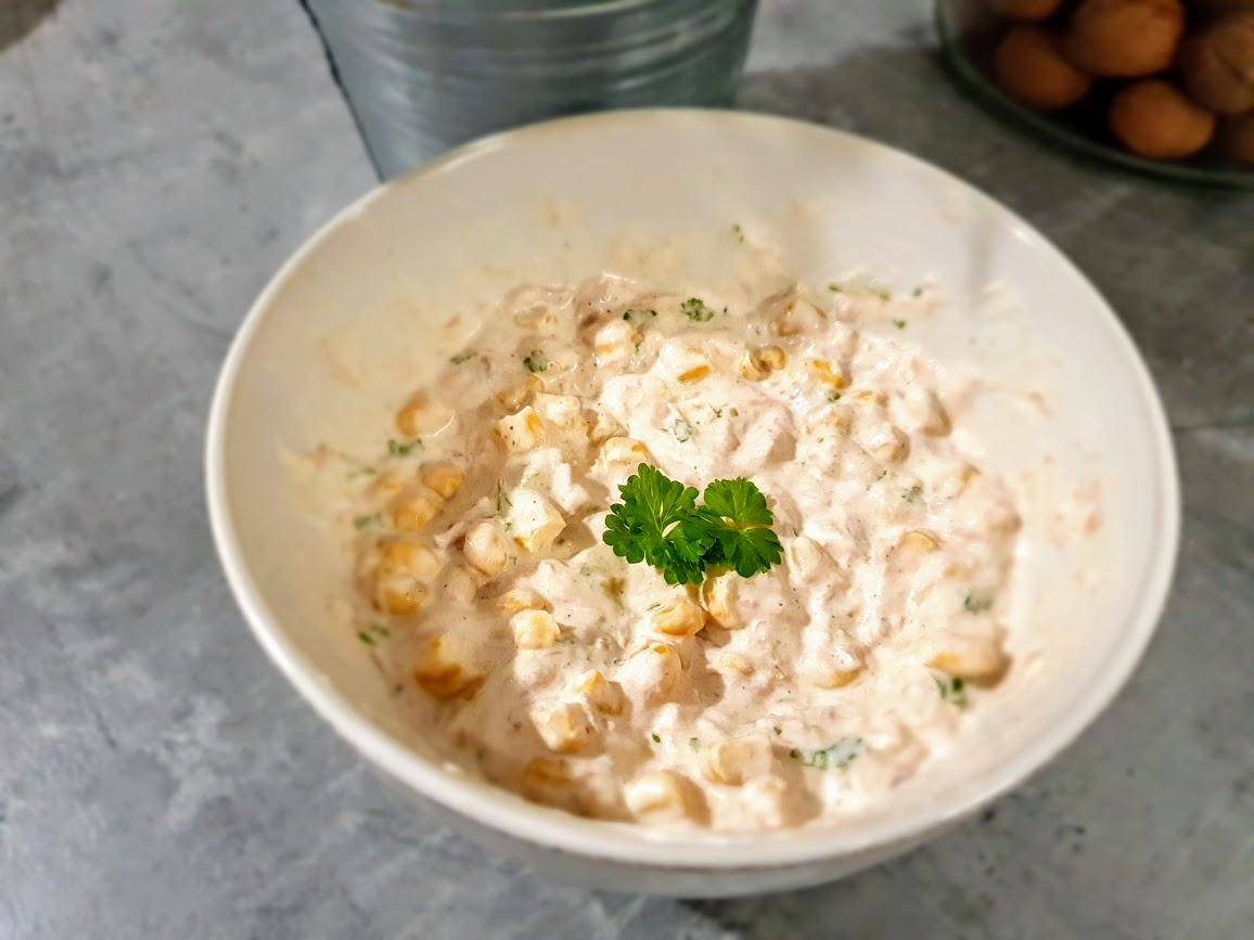 pasta kanapkowa z tuńczykiem i kukurydzą