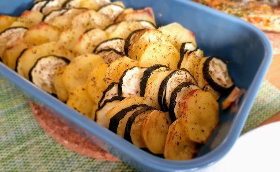 pieczone talarki z ziemniaków i cukinii