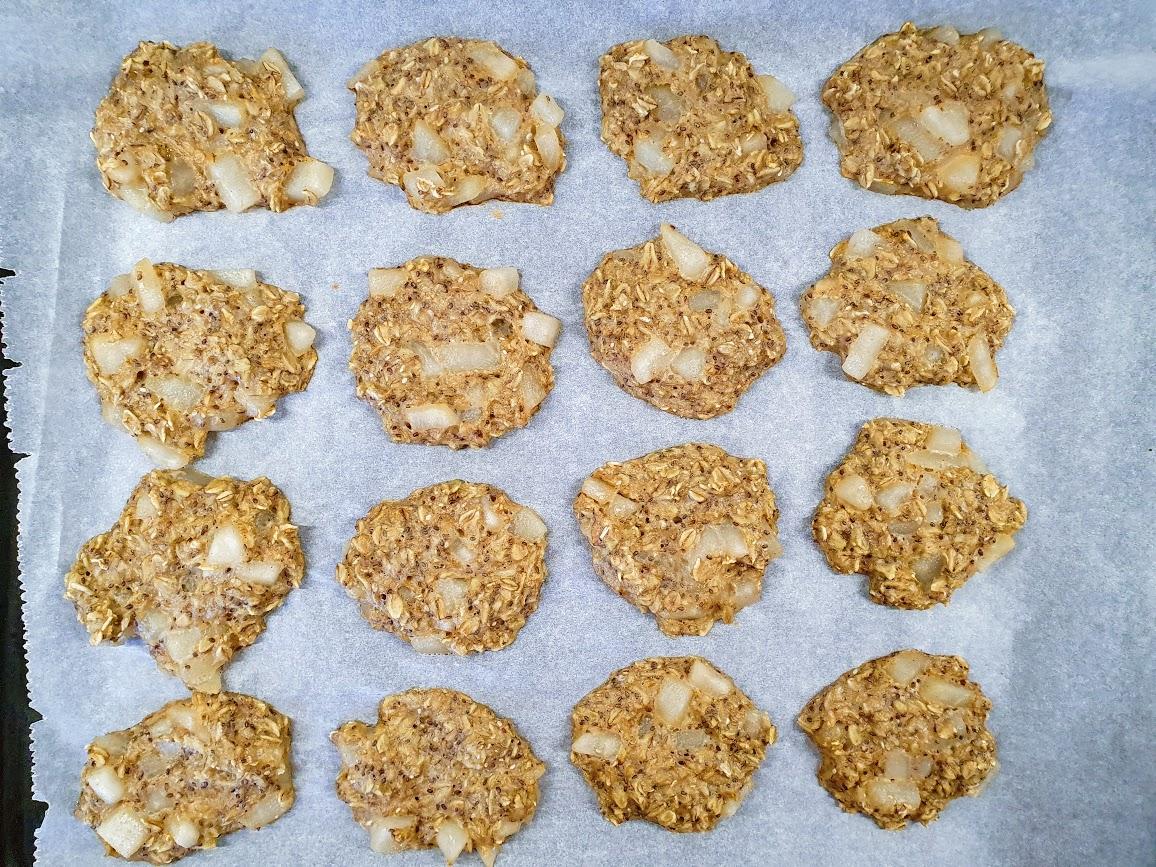 mięciutkie ciasteczka owsiane z gruszką