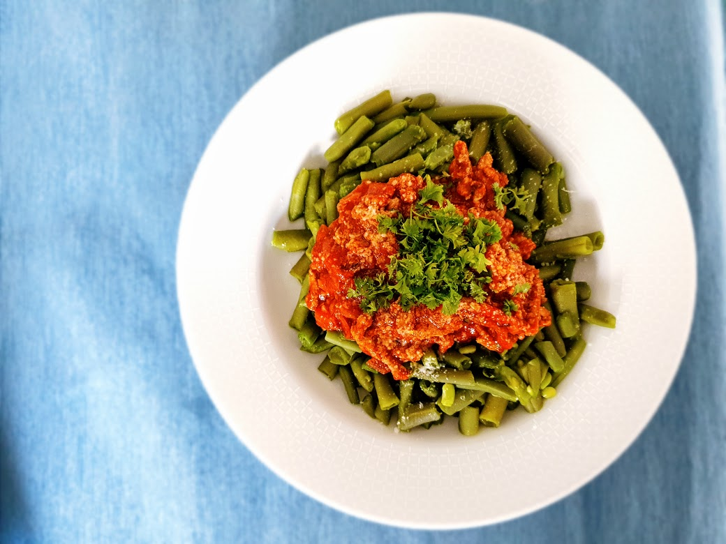 Fasolka szparagowa a'la spaghetti